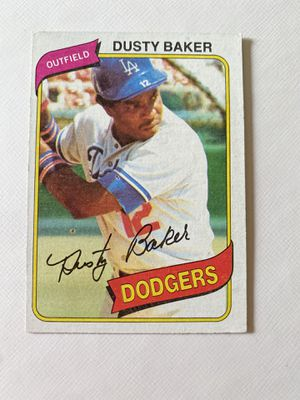 Signed 1982 Dusty Baker Topps baseball card #255 for Sale in Hinckley, OH