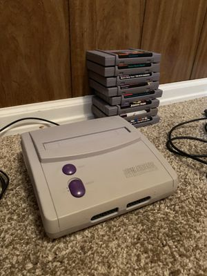Super Nintendo with Controllers for Sale in Englewood, CO