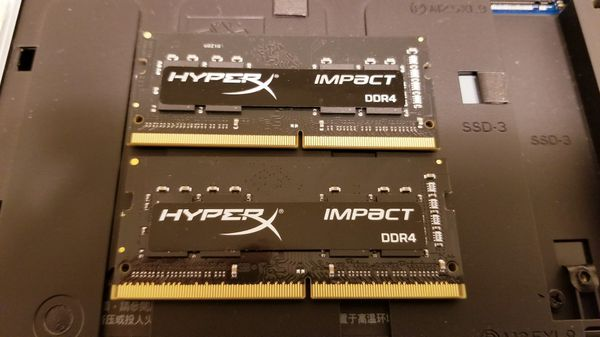 HyperX Kingston Technology Impact 16GB Kit (2x8GB) 2400MHz DDR4 CL14 260-Pin SODIMM Laptop