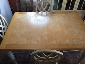 Kitchen table and 4 chairs with China Hutch for Sale in Akron, OH