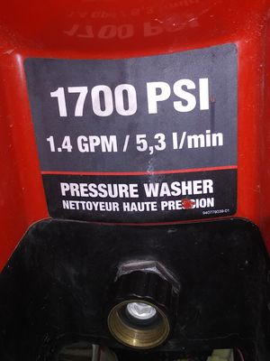 1700 psi electric pressure washer for Sale in Enumclaw, WA