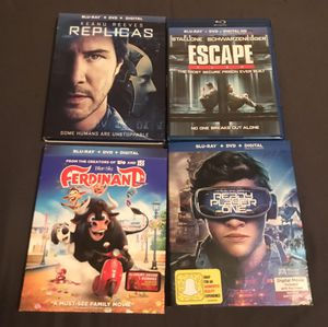 Blu-ray set of 4 movies for Sale in Dallas, TX