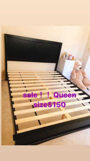 Queen size bed frame、cabinet for Sale in Monterey Park, CA