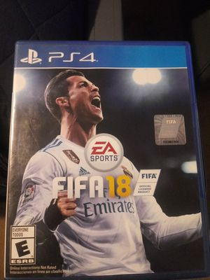 Fifa 18 ps4 for Sale in Fresno, CA