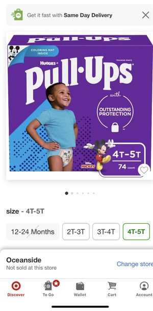 Huggies pullup size 4t-5t for Sale in Vista, CA