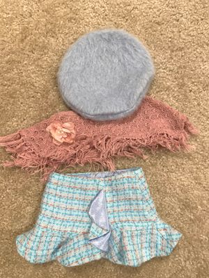 Authentic American Girl Pink Cape Plaid Skirt and Beret Hat outfit for Sale in Napa, CA