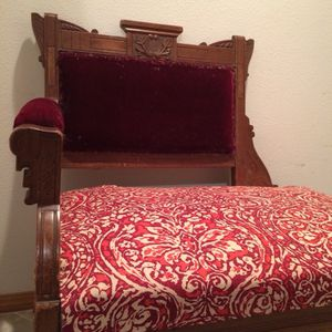 Antique Victorian Eastlake walnut loveseat - settee - fireside couch - chair for Sale in Seattle, WA