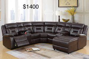 New leather sectional couch /$50 down / FREE delivery for Sale in Anaheim, CA