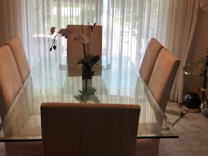 Glass Dining Table 6 chairs for Sale in Fort Lauderdale, FL