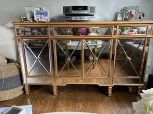 Beautiful Mirrored Buffet - Excellent Condition for Sale in Washington, DC