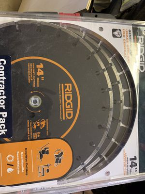 "3 pack of 14"" diamond cutoff saw blade for Sale in Damascus, MD"