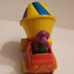 Vintage Barney The Dinosaur Cement Truck Toy for Sale in Southington, CT