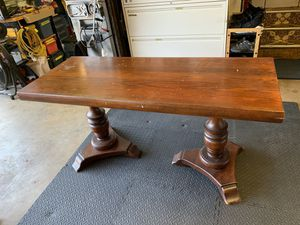 Solid Wood Sofa/Dining Table 2' x 5' for Sale in Casselberry, FL