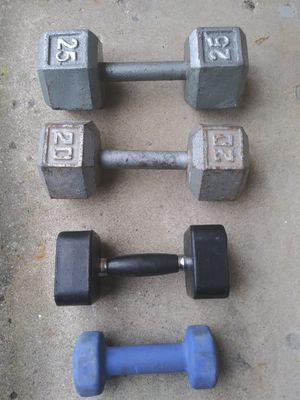 SINGLE DUMBBELL WEIGHTS for Sale in Columbus, OH