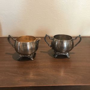 Vintage Oneida Silver-Plated Cream & Sugar Set for Sale in Orange, CA