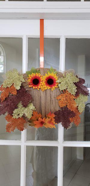 Owl mesh wreath for Sale in Orlando, FL