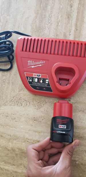 Milwaukee charger m12 and battery 1.5ah for Sale in Las Vegas, NV