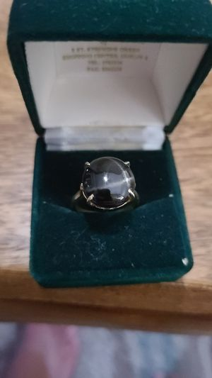 Black Obsidian and Gold Ring for Sale in Chicago, IL
