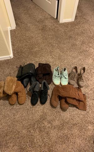 Vans, boots, heels size 5 and 5.5 for Sale in Tolleson, AZ