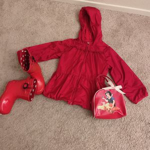 Red rain Jacket / Boots Set for Sale in Wildomar, CA