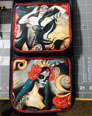 Día de Los Muertos Leather Trim Pot Holder $17 for Sale in Concord, CA