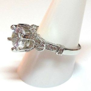 Fashion ring size 9 simulated diamond wedding anniversary bling promise stamped 925 #113 for Sale in Southaven, MS