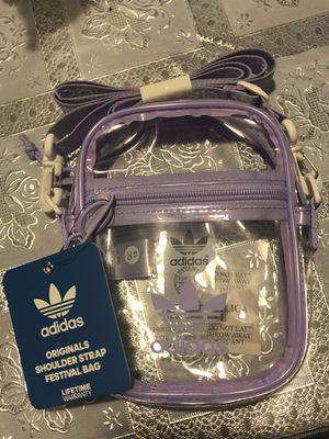 Adidas purple clear crossbody bag for Sale in Los Angeles 61721f95f417f