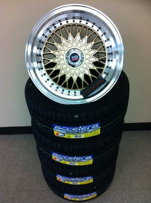 """15"""" spec1 3s rims and tires for Sale in Pasadena, TX"""