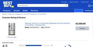 Samsung French Door Fridge with Bottom Freezer & ThrutheDoor Ice/water for Sale in Fort Myers, FL