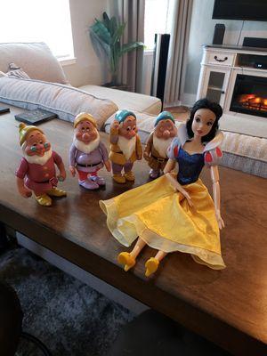 "Cinderella 16"" Voice Doll w/ 4 dwarfs $25!!! for Sale in Dinuba, CA"
