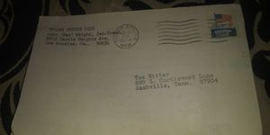 Tex Ritter mail Nashville Shriner letter 1970s invitation john ritter's dad for Sale in Big Rock, TN