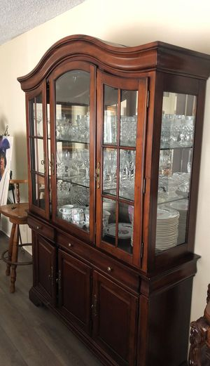 Glassware , antique china display case .... for Sale in Los Angeles, CA