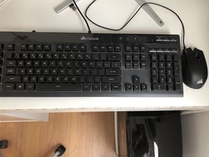 Corsair gaming keyboard and mouse for Sale in NORTH PENN, PA