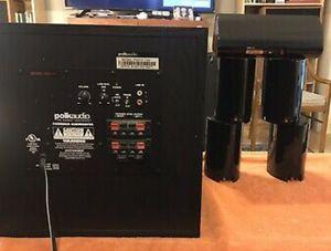 Polk Audio 5.1 Speaker System + Powered Subwoofer for Sale in North Springfield, VA