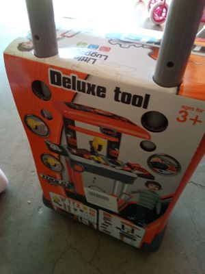 Deluxe tool set carry-on luggage located in Palmdale California we ship out $15 each open at 10 p.m. for Sale in Palmdale, CA