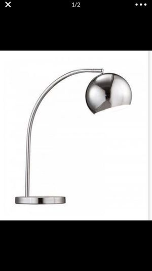 Like New Modern Solaris Table Lamp Chrome Finish Dimensions: 22 x 17 x 7.1 for Sale in Los Angeles, CA