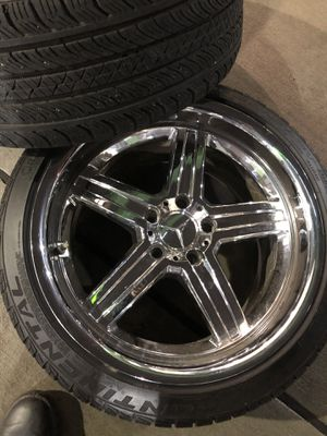 """18"""" Mandrus Mannheim & Continental Extreme Tires Staged 255/35/18. Front and 225/40/18. Rear for Sale in Woodlawn, MD"""