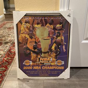 2000 Lakers Championship Framed 16x20 Poster for Sale in Los Angeles, CA