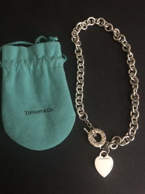 Tiffany Sterling Silver Toggle Heart Charm Necklace for Sale in Santa Rosa, CA