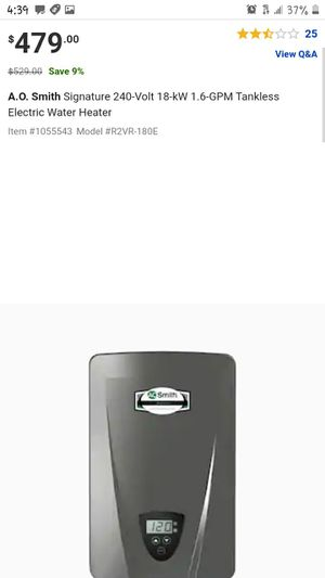 Tankless instant electric compact water heater for Sale in Seattle, WA