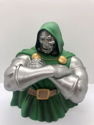 Marvel Dr Doom Bust Bank Action Figure and Coin Bank, Monogram for Sale in Manteca, CA