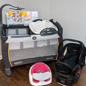 Baby Bundle: Graco Pack & Play, Britax, & Bumbo for Sale in Marietta, GA