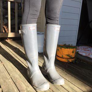 Hunter Rain Boots- Grey- Size 8- Womens for Sale in Seattle, WA