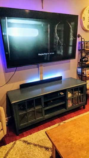 Modern TV stand with glass door for Sale in Rockville, MD