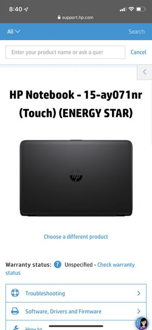hp notebook computer for Sale in Stockton, CA
