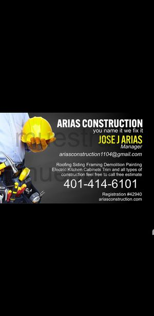 Ariasconstruction for Sale in Providence, RI