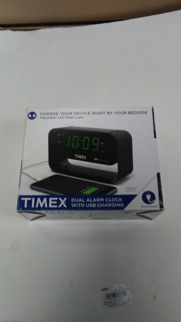Alarm clock with USB charging