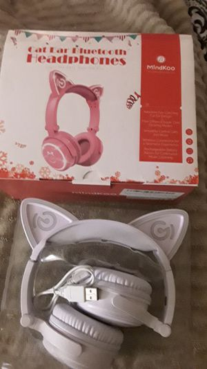 Bluetooth Cat Ear (4 Different Light-up settings) headphones for Sale in Bensalem, PA