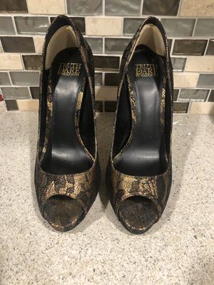 Beautiful black and gold lace heels Truth or Dare Madonna Size 7 for Sale in WEST PALM BEACH, FL