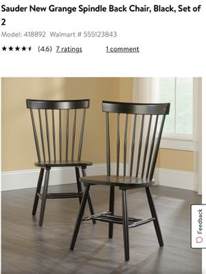 4 black spindle chairs for Sale in Norwalk, CA